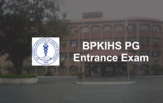 BPKIHS PG entrance exam