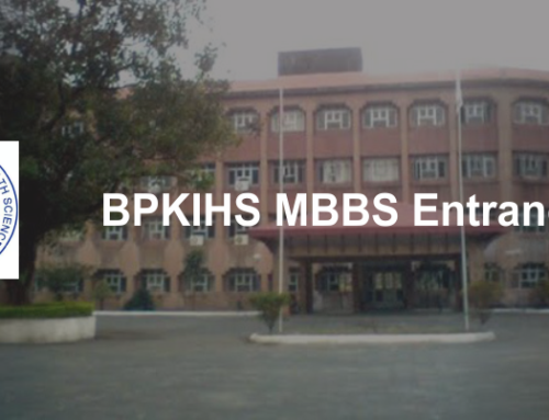 BPKIHS MBBS Entrance Exam 2020, Application, Exam Date, Admit Card